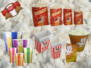 Popcorntüten und -becher