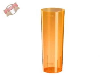 Longdrinkglas 0,3 ltr. orange (10 Stk.)