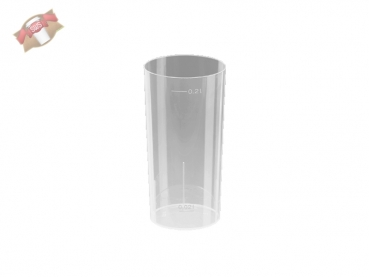 Longdrinkglas Partyglas Cocktailglas 200 ml PP transparent (10 Stk.)