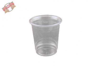 Trinkglas Plastikbecher 40 ml PET klar (40 Stk.)
