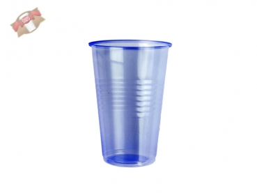 Becher Mundspülbecher 230 blau transparent (100 Stk.)
