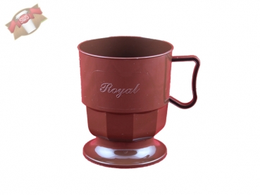 royal cup tasse kaffeetasse becher braun 300 stk becher onlineshop. Black Bedroom Furniture Sets. Home Design Ideas
