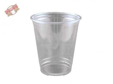 PET-Clear Cup Trinkbecher Ausschankbecher Ø 92 mm 355 ml (50 Stk.)
