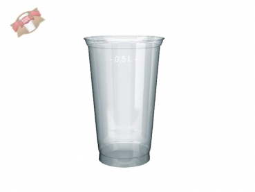 PET - Clear-Cup Smoothiebecher 500 ml Ø 95 mm (50 Stk)