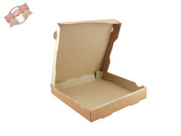 Pizzakarton Pizzabox Pizzaschachtel 26 cm braun (100 Stk.)