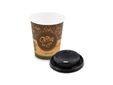 Kaffeebecher Coffee to go Becher + PS Deckel 200 ml 8 oz Cappuccino (10 Stk.)