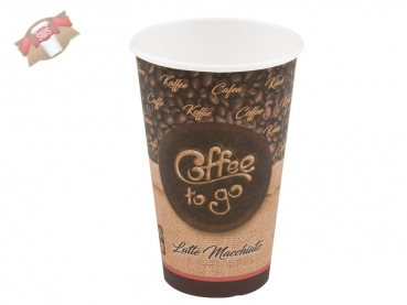 Kaffeebecher Coffee to Go Becher 16 oz XL 400 ml Ø 90 mm (50 Stk.)