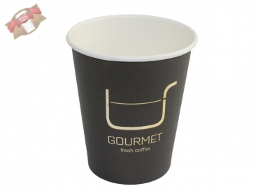 "Coffee to go Becher ""Gourmet"" 200 ml glatt (100 Stk.)"