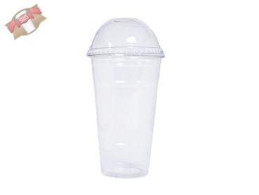 Bio PLA-Smoothiebecher 600 ml Ø 96 mm Smoothie Trinkbecher Becher (1000 Stk.)