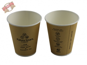 "Bio-Kaffeebecher Coffee to go Becher braun ""Futur Smart"" Ø 62,5 H 64 mm 100 ml (2.000 Stück)"