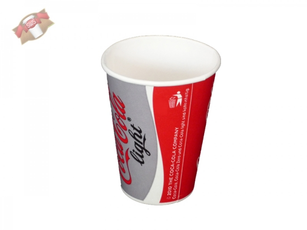 Pappbecher Trinkbecher 200 ml Coca Cola light (100 Stk.)